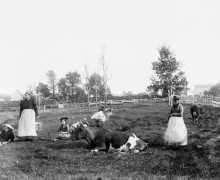 Mrs Harvey And Friends Near Harvey and Concord St - June 1896