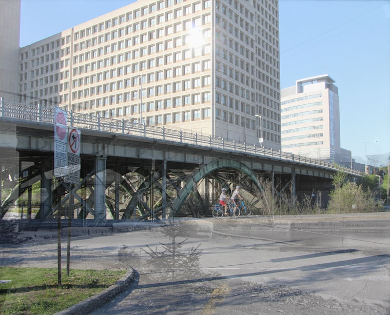 Laurier Bridge over Rideau Canal-blend