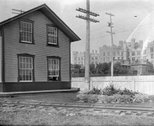 Train station south of Victoria museum 22 Sept 1910